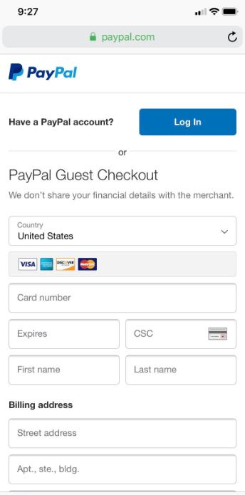 Unable to take Debit or Credit Card Payments on Mo    - PayPal Community