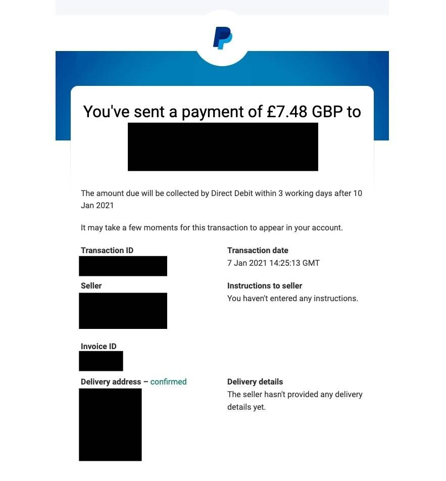 Confirmation Email Format   PayPal Community