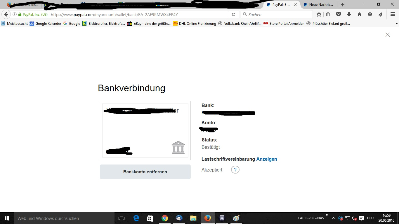 paypal mit bankkonto