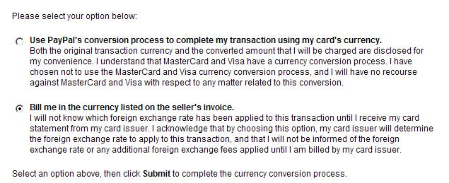 how to change your paypal currency