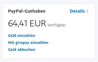 Paypal Geld Vom Konto Abbuchen LaГџen