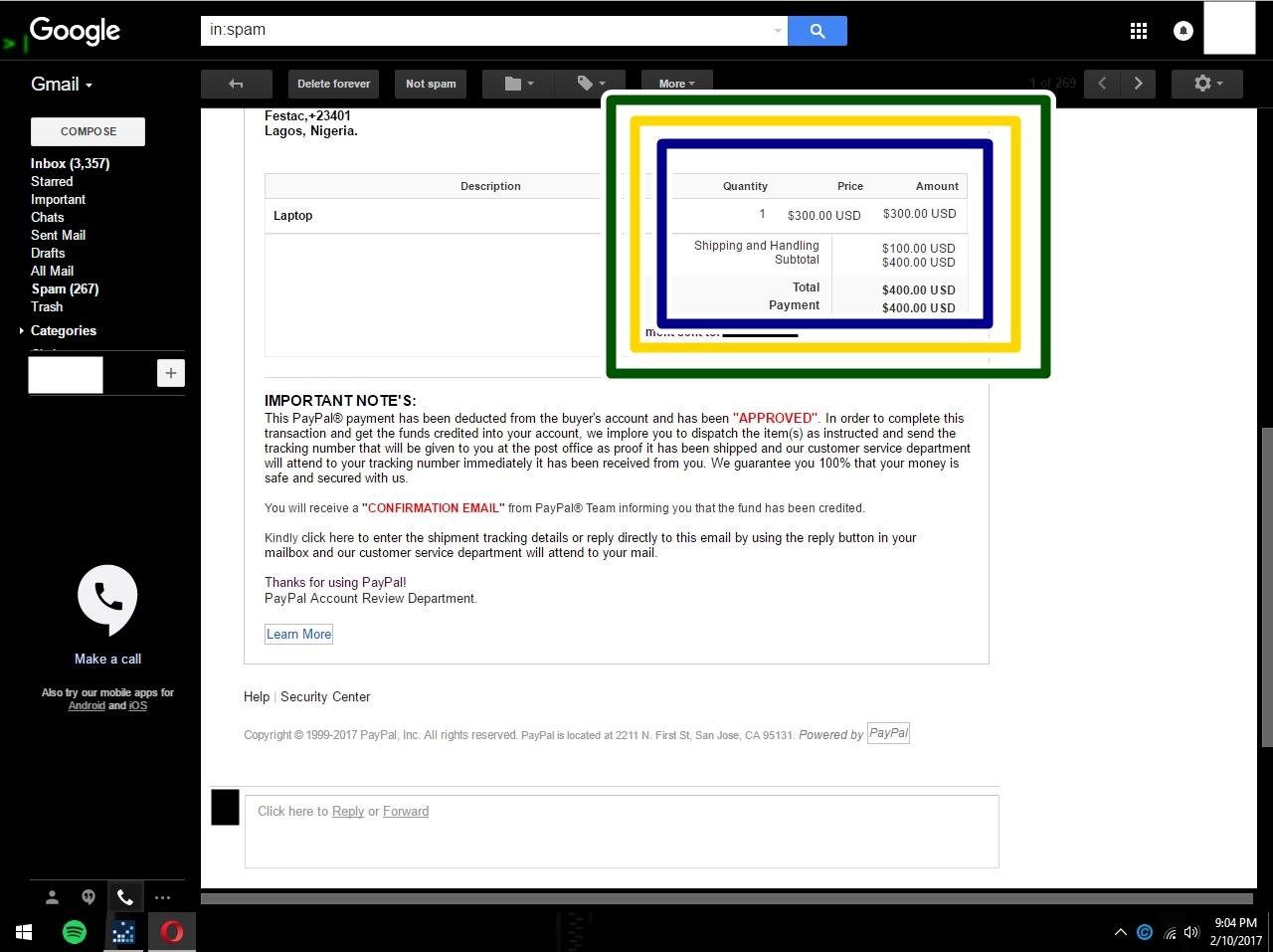 Fraud In Nigeria Page  PayPal Community - Que es us zip code
