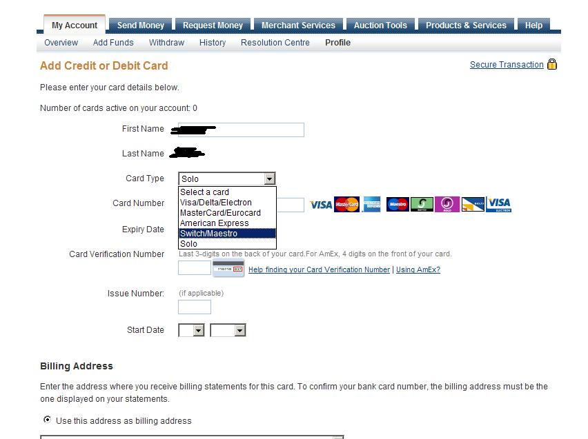 limit bei paypal
