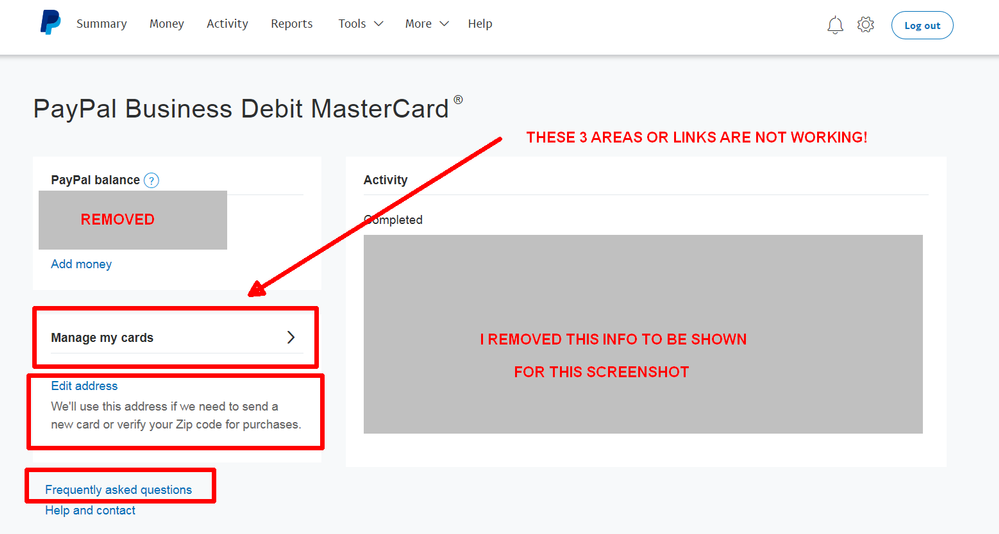 Can\'t activate new card -- your website is broken? - PayPal Community