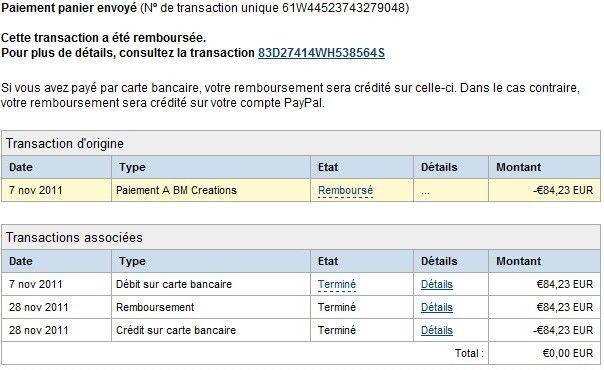 remboursement sur carte bancaire Remboursement Paypal mais changement de carte entr   PayPal