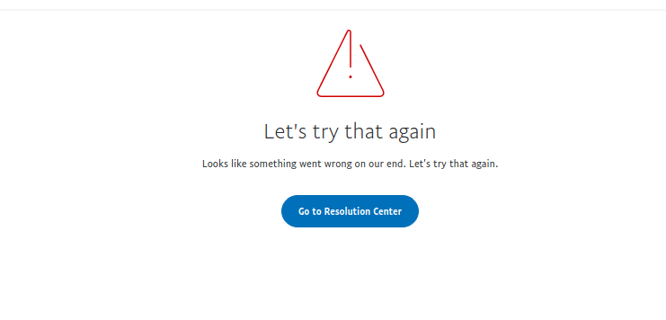 Paypal Resolution Center error