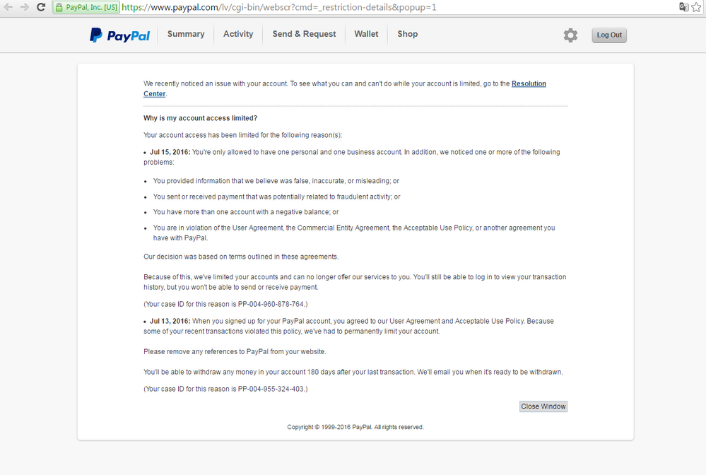 Why My Account Is Limited Your Case Id For This Paypal Community