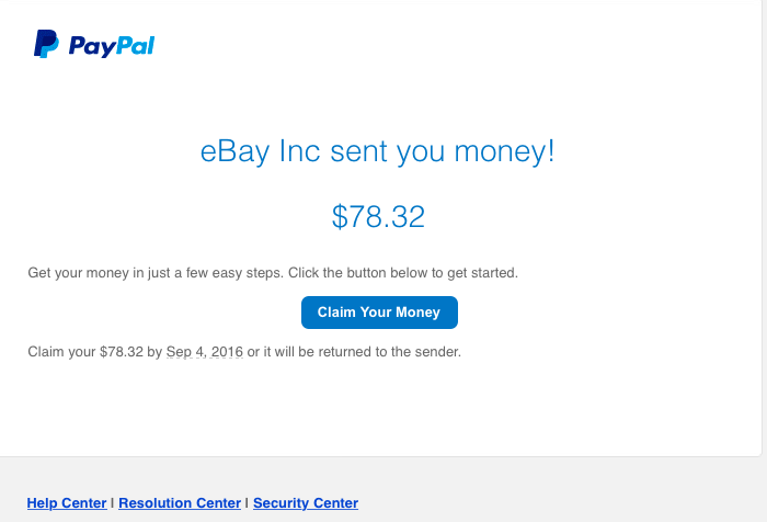 Can't receive refund/money from eBay Inc - PayPal Community