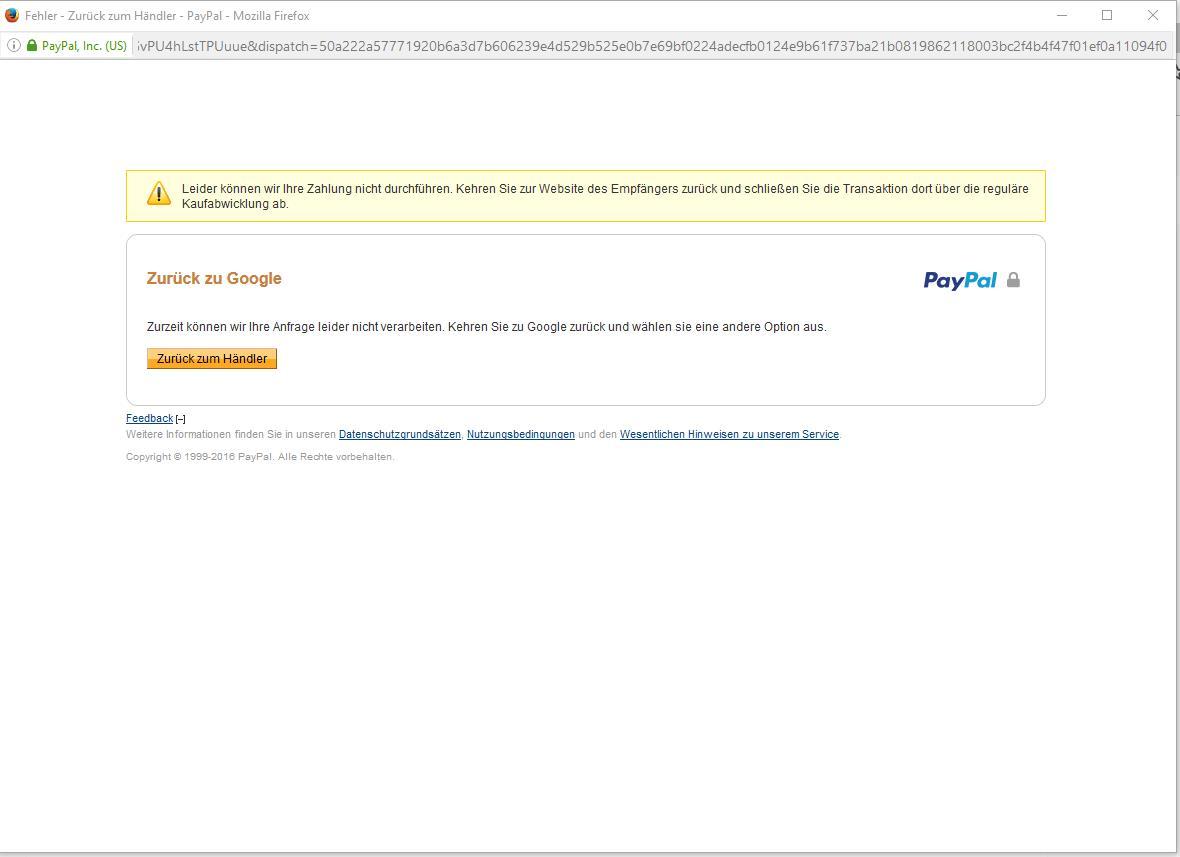 Paypal Konnte Nicht Abbuchen