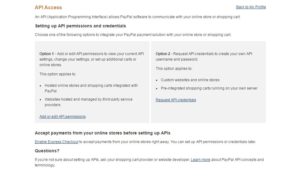 how to set up paypal on spoonfed