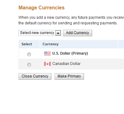 how to change paypal currency conversion