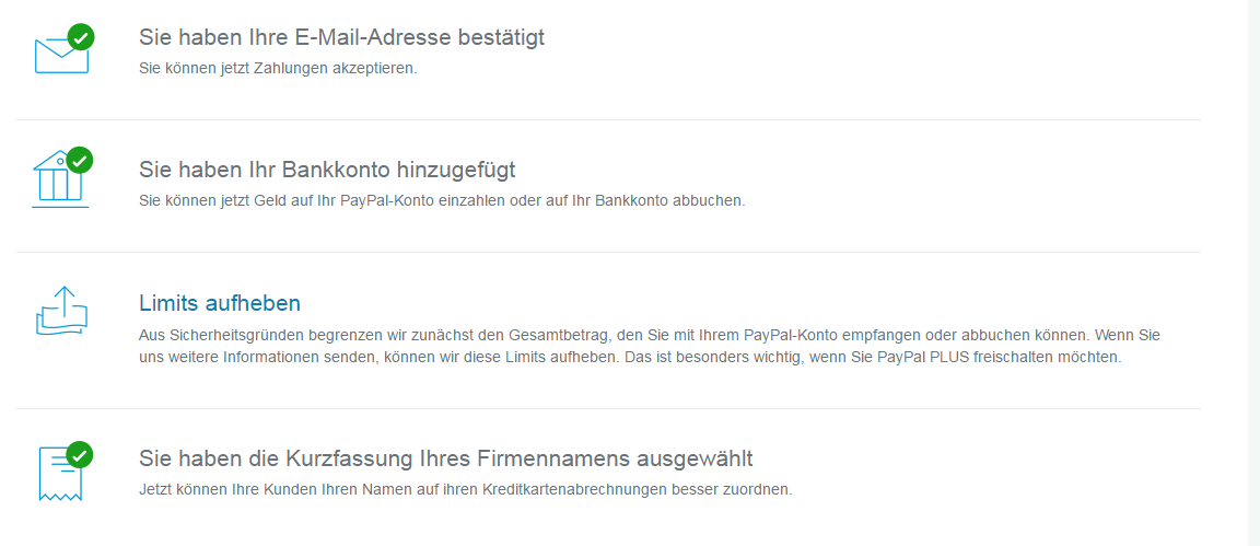 Paypal Zahlungslimit