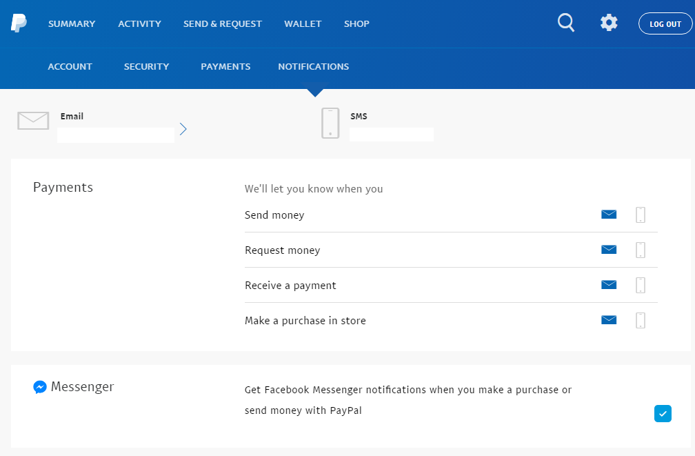 solved how do i stop notifications to messenger paypal community