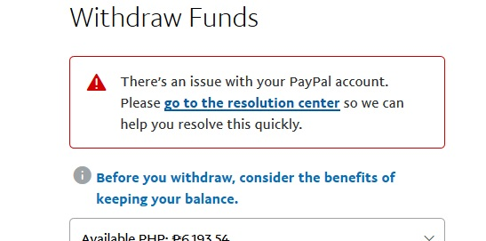 Solved: Can't withdraw funds! - PayPal Community