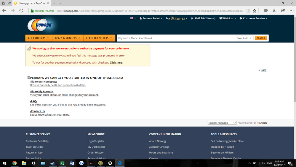 Paypal Transaction Not Accepted By Newegg Paypal Community