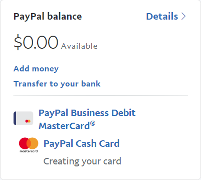 paypal cardspng - Paypal Business Card