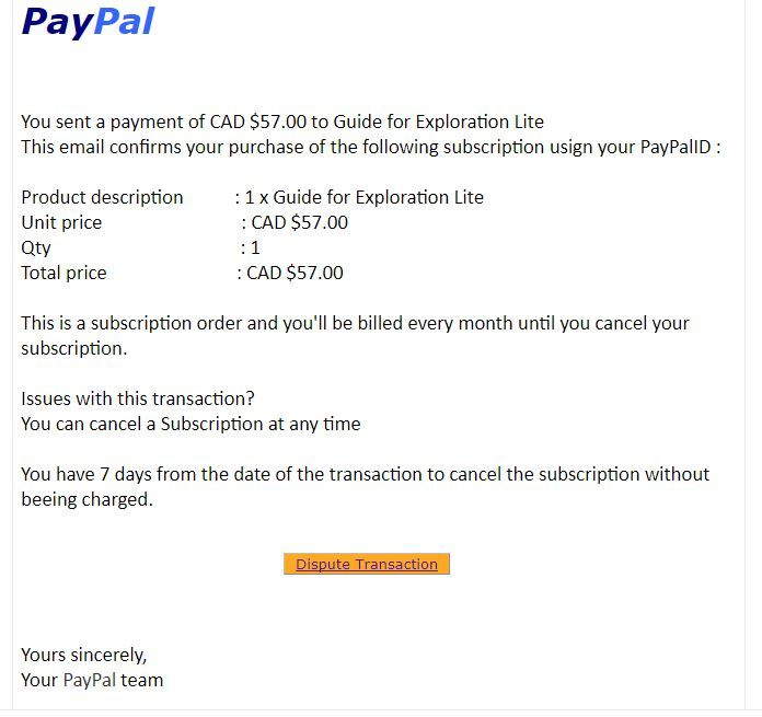 Email scam - PayPal Community
