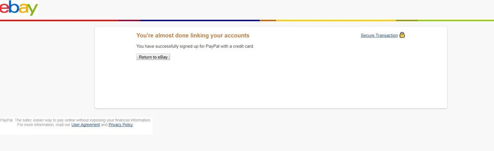 Cannot Link My New Paypal Account In Ebay Paypal Community