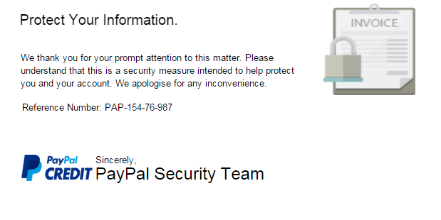 Solved: Examples of Suspected Fraud or Fake Emails - PayPal