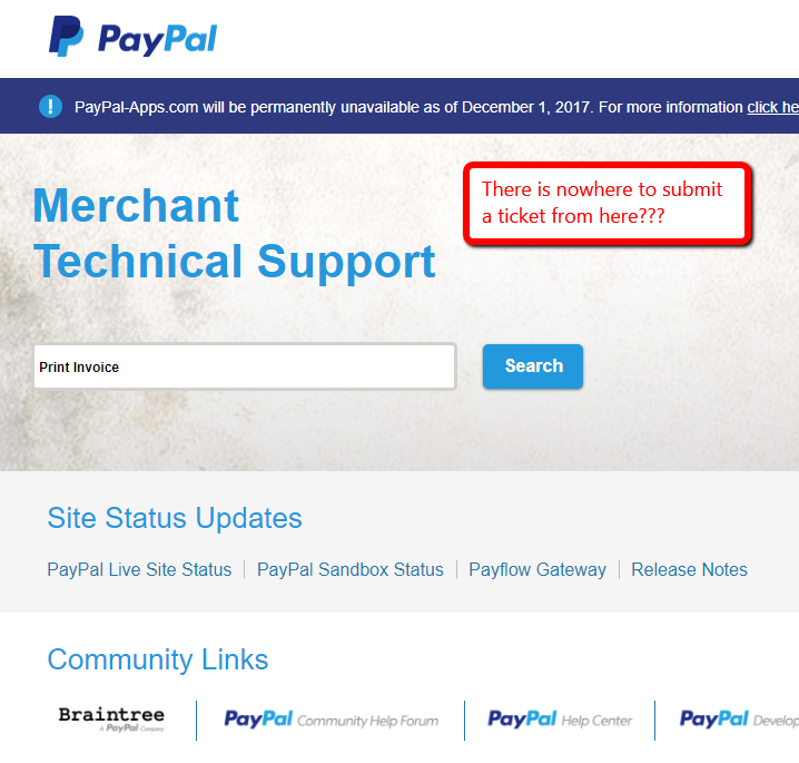 Print Invoice Issue PayPal Community - Issue invoice