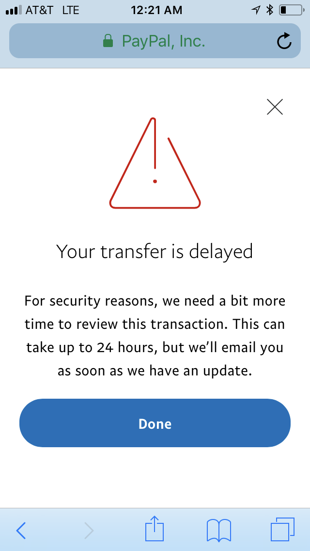 PayPal deliberately delays bank transfers now - PayPal Community