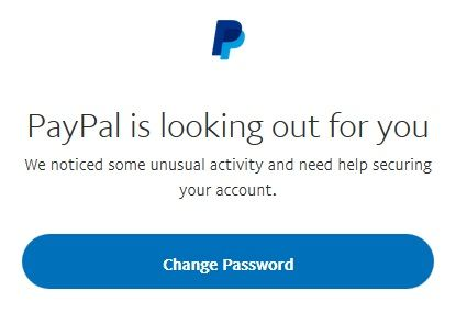 PayPal is looking out for you message on login - PayPal Community