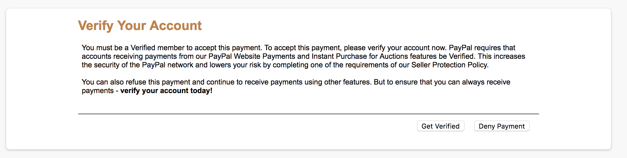 Can't Accept Received Payments - PayPal Community