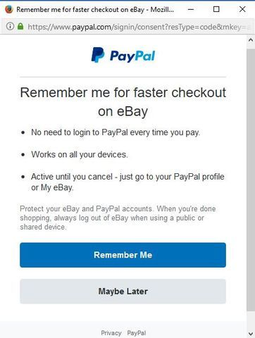 How To Undo Remember Me For Faster Checkout On Eb Paypal Community