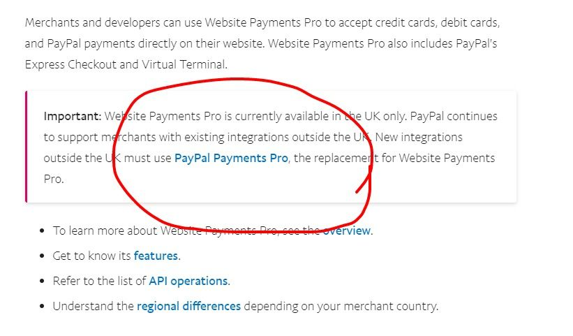 Integration of payment pro in a backend api to pro