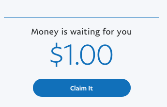 Paypal balance doesn't show up, forcing me to clai