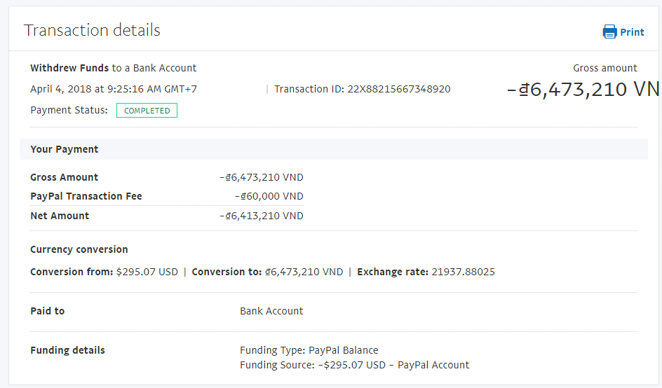 Please check my Transaction ID: 22X88215667348920 - PayPal