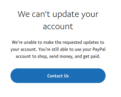 Solved: PayPal wants me to replace my debit card with a Pa
