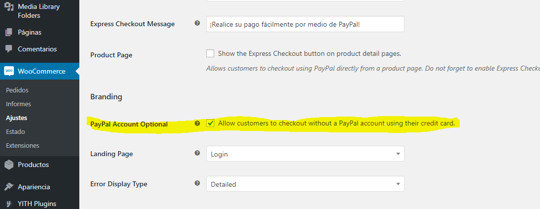 Checkout as Guest Option Turned on, but option not