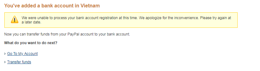 Error when adding Bank account !! - PayPal Community