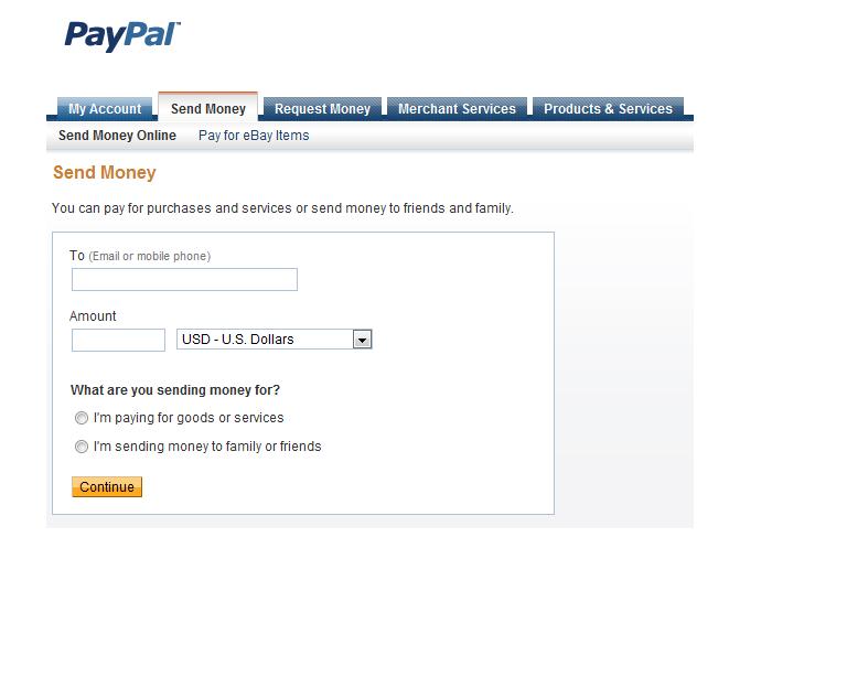 Send Money Personal Tab Lost Paypal Community