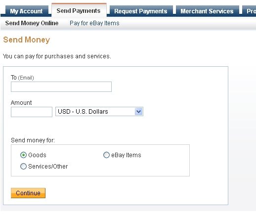 I Signed Up For Paypal To Send Money Family And Now See Don T Have This Option As Well No Information Was Provided When Tried Search The Help