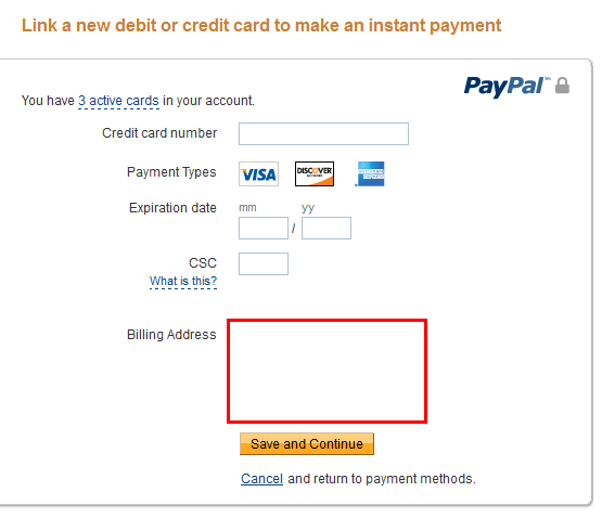 Paypal wont accept my debit card