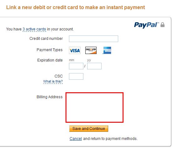 Paypal wont accept my debit card