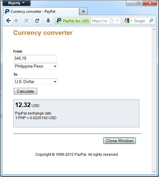 Paypal Currency Coverter Community