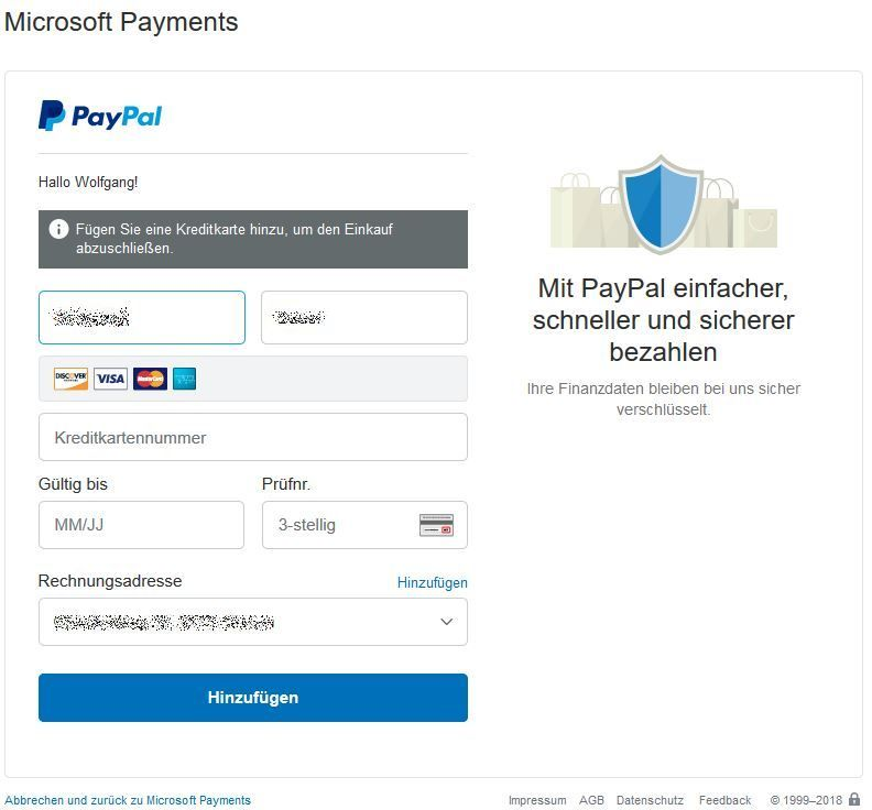 Zahlungsmethode Bei Paypal Г¤ndern