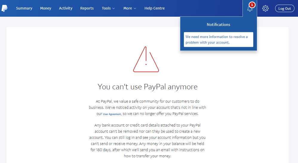Solved: PayPal Permanently Limited my account - Without Wa