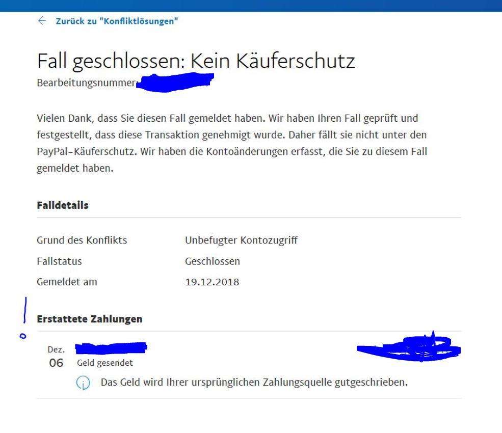 Paypal fall schließen
