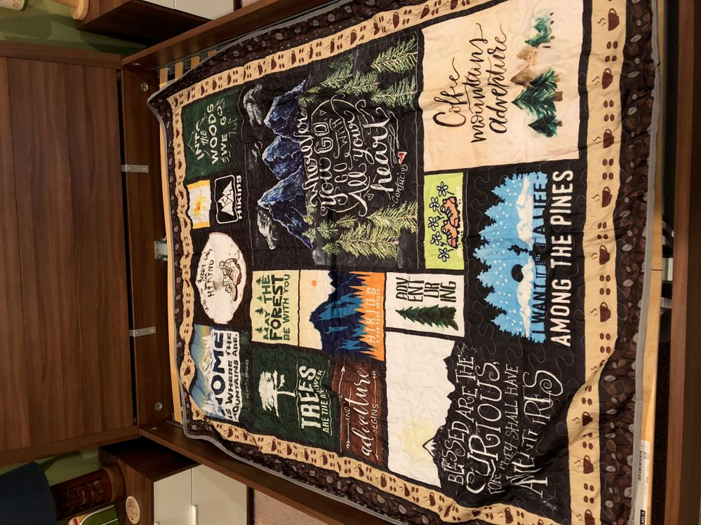 Hiking quilt queen size