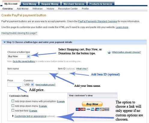 How to add a PayPal button link to your Facebook p