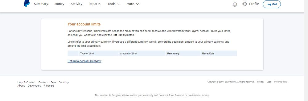 Account set up/limits issue - PayPal Community