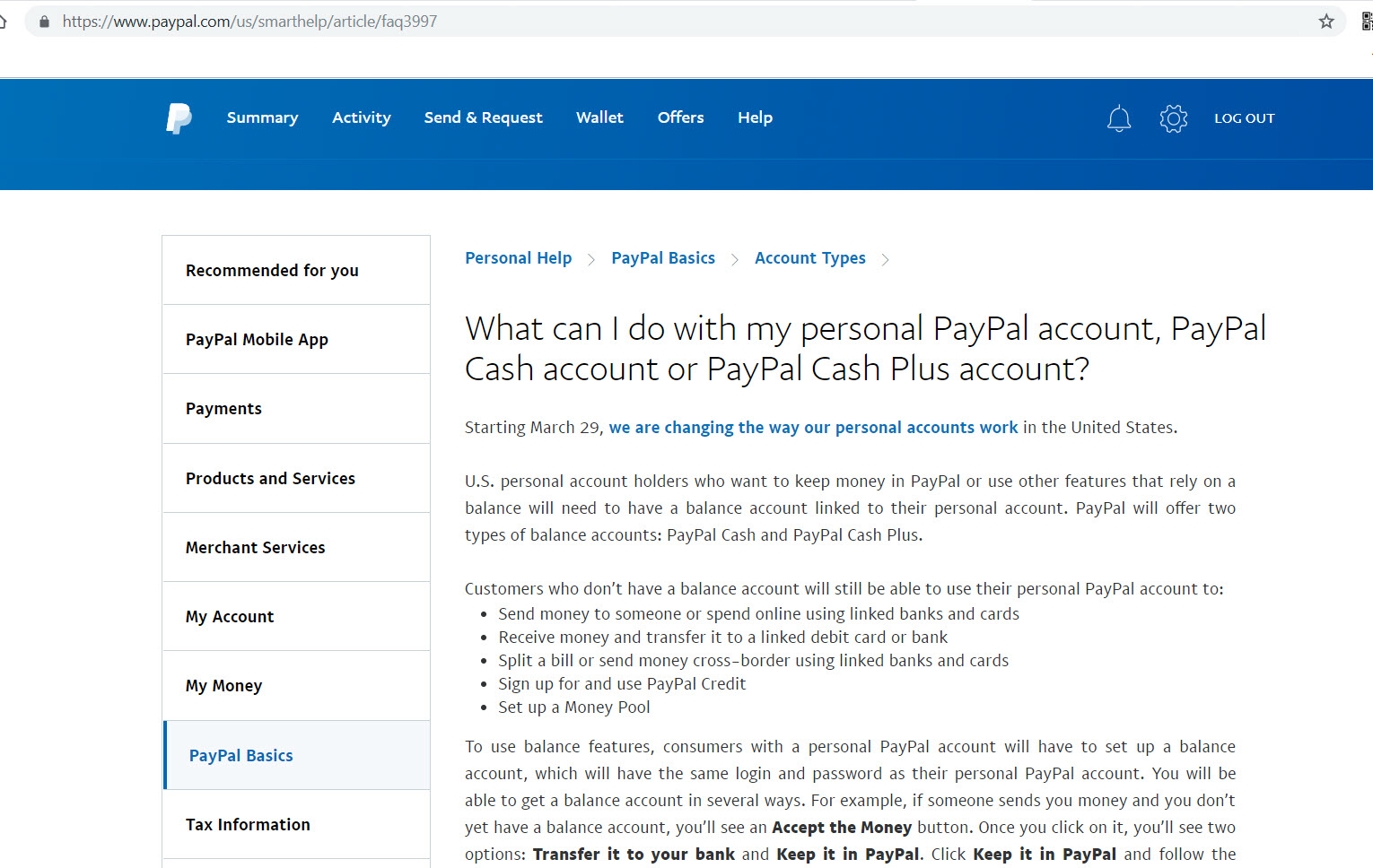 My Paypal Balance option is not showing - PayPal Community