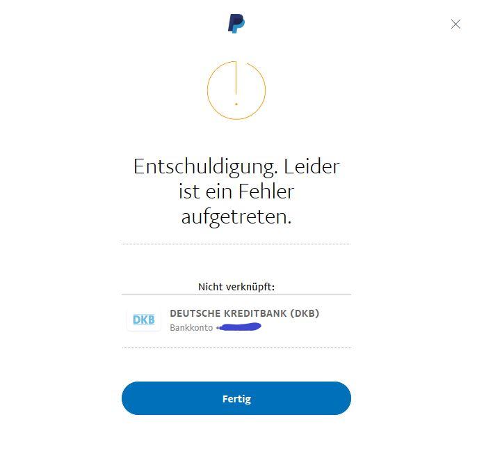 Paypal Sie Haben Dieses Bankkonto Bereits Ihrem Paypal-Konto HinzugefГјgt.