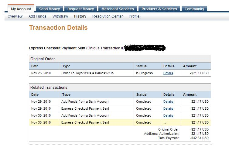 paypal made extra payment to merchant paypal community